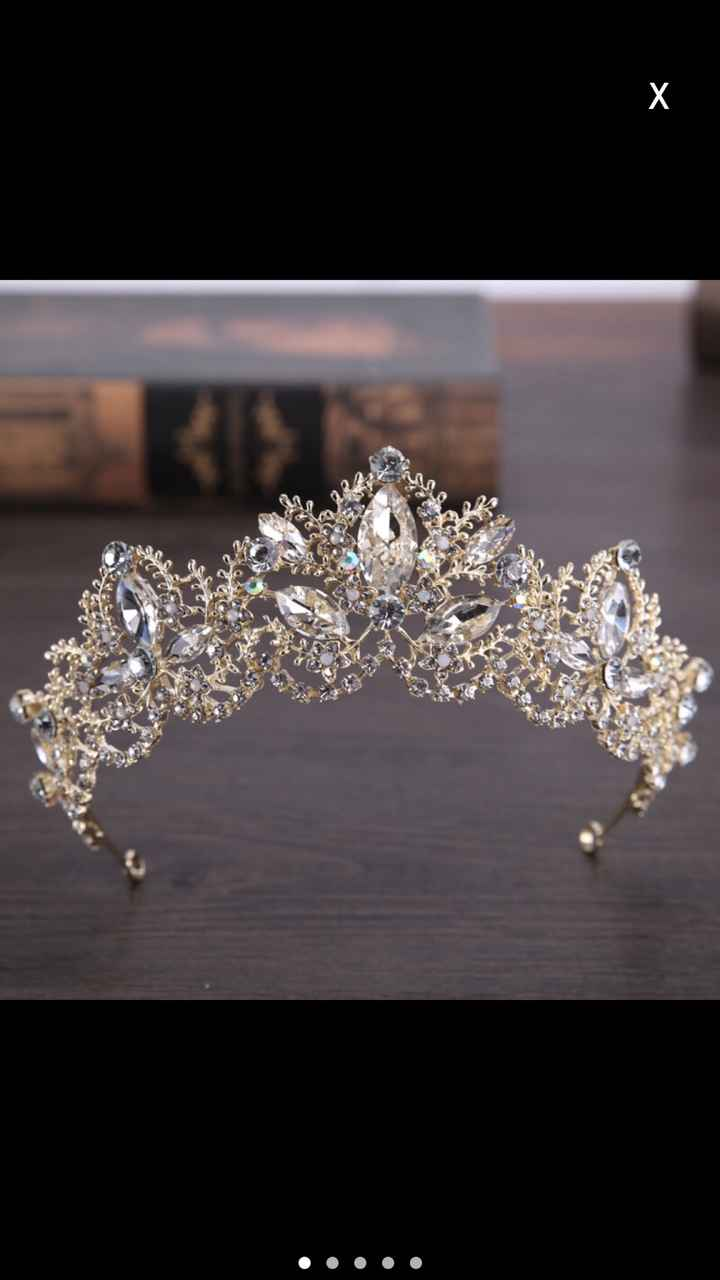 Head piece Tiara gold
