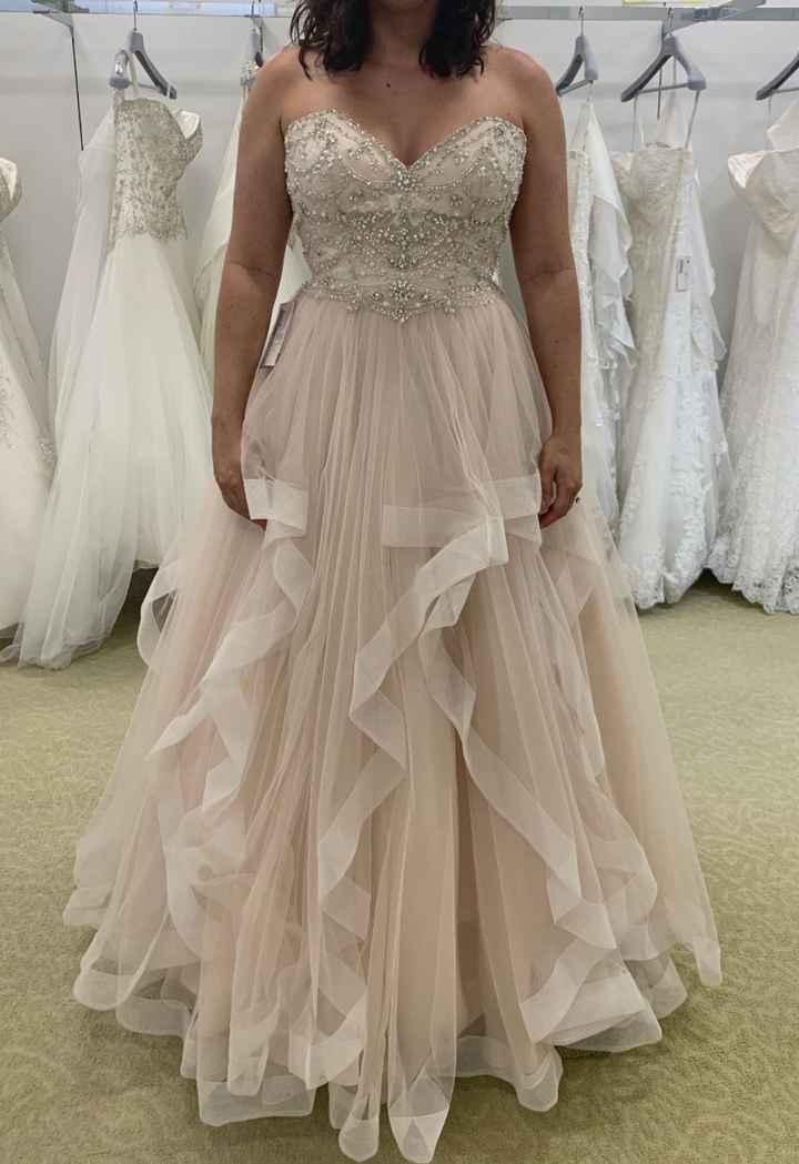 not wearing a white wedding dress? - 1