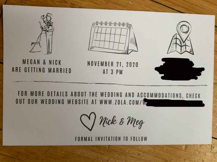 Hand-addressing Save the Date Envelopes - 3