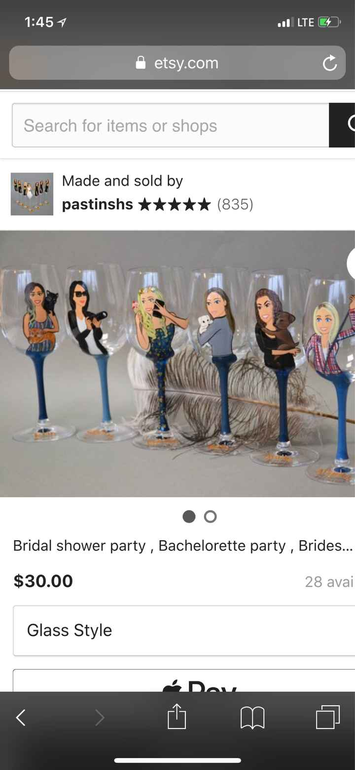 Bridesmaids gifts- are wine glasses the way to go? - 1