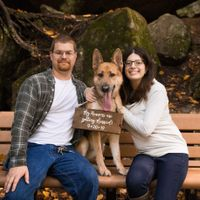 Engagement photos w/ dogs - 2