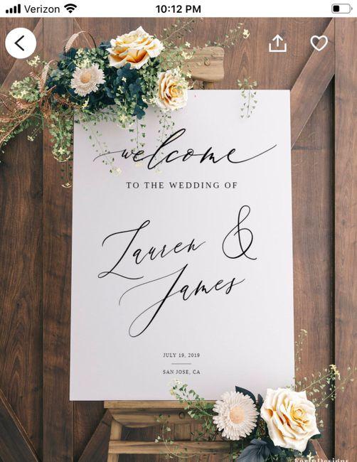 iso Wedding Signs 2