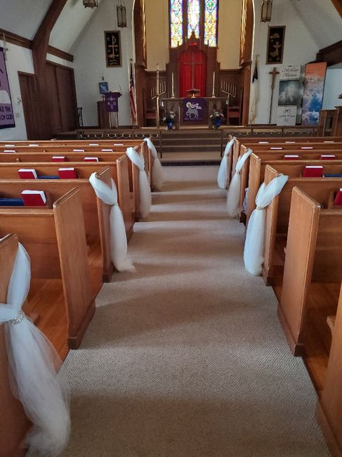 "Wedding Pews w/ no ""end caps"" 1"