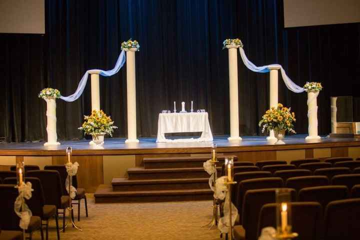 For those of you who are getting married in a church (or already did)...