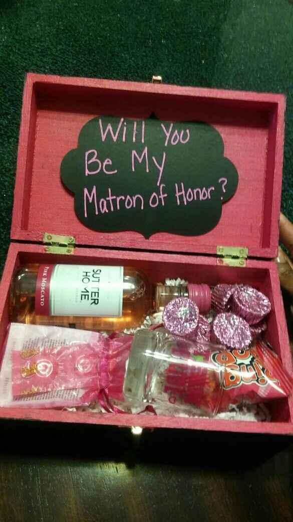 "Show me your ""bridesmaid boxes"""