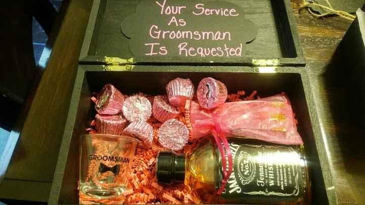 Asking the Groomsmen!