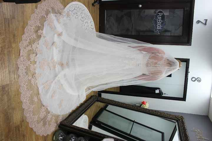 Ivory 1950s veil? Fascinatior/birdcage veil?  Rose Gold Veil with Ivory Dress? please help - 2