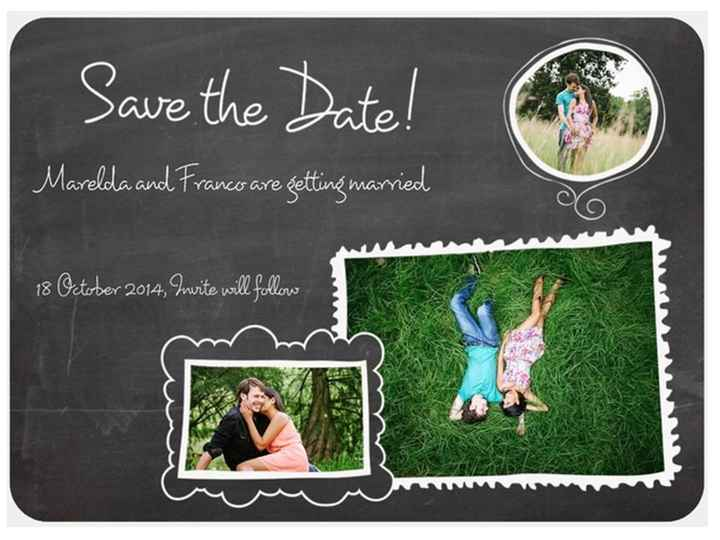 Our Save the Date:) (Pic)