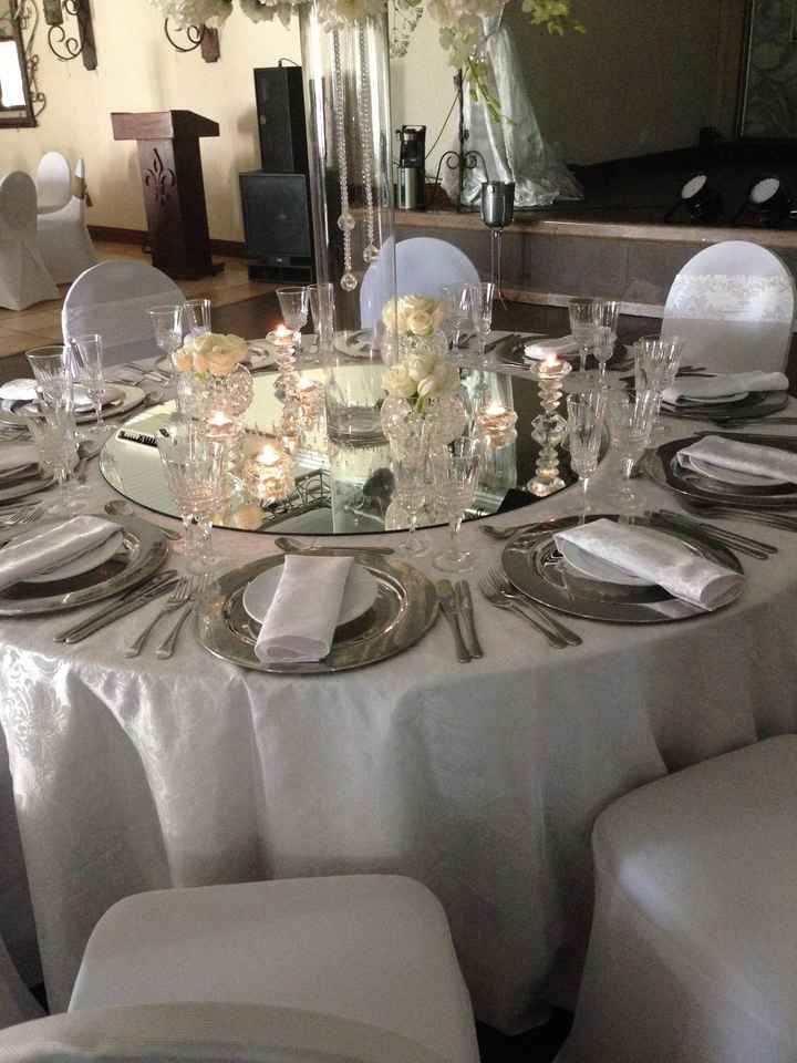 Had our mock set-up today (table settings pic) yayy!