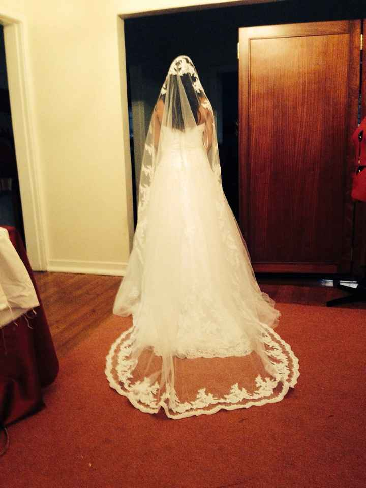 So my dress is tight for me ... But which veil?
