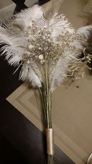 How To Make A Feather Bouquet Wedding