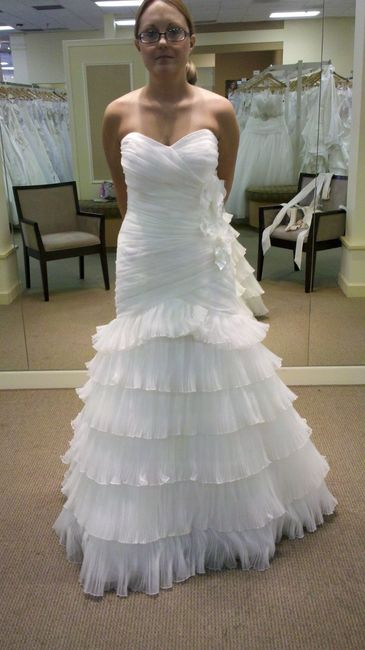 Weird OBSESSION: I love seeing brides in their ACTUAL dresses :)