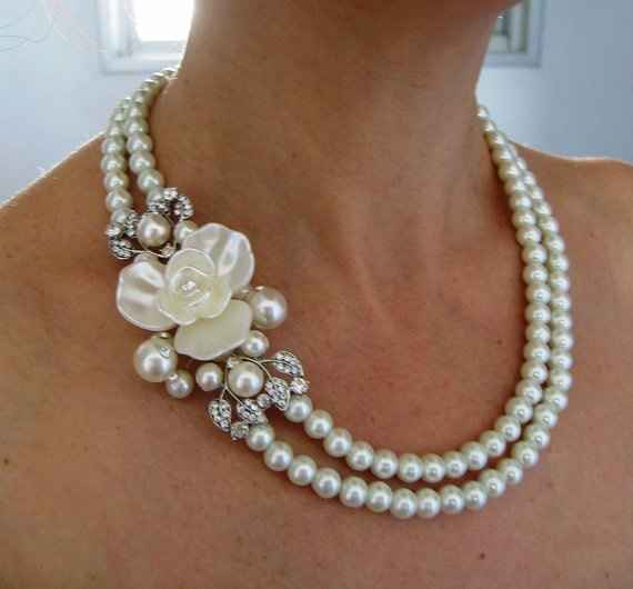 What type of necklace for sweetheart neckline