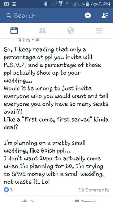 First Come First Served Wedding Facebook Never Lets Me Down