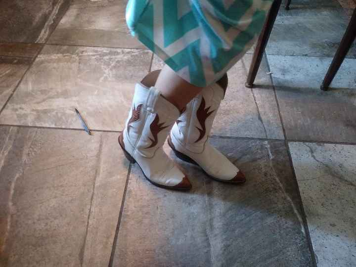 Here are my wedding boots