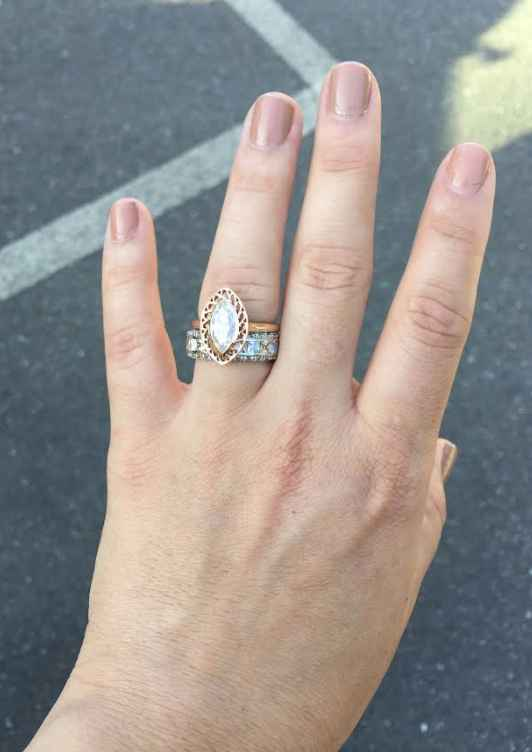Is it ok to ask you for how many  ct's is your engagement ring? And for the price and brand? - 1
