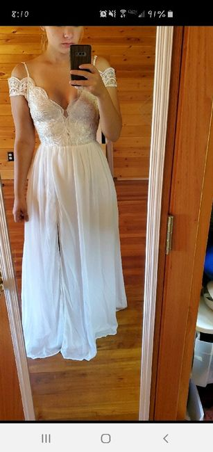 Honest opinions please on reception dress 1