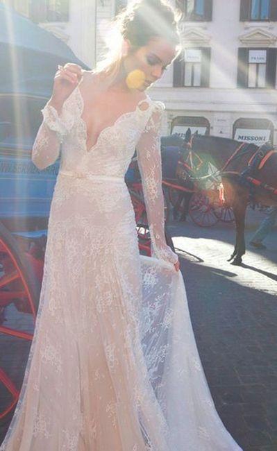 Thrift Store Lace Wedding Dress