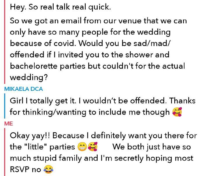 Shower invite but not wedding 1