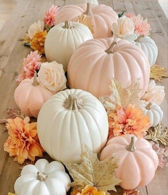 Fall classy pumpkin or White Ivory Theme 1