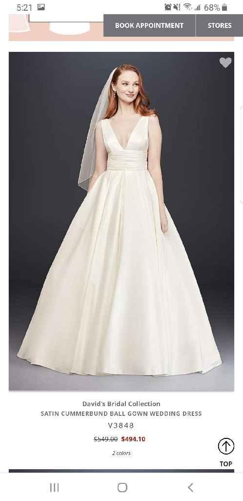 He doesn't like my dream wedding dress - 1