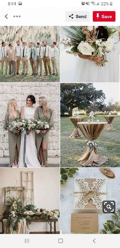 My wedding dress is green. Anyone have ideas for a color palette? - 2