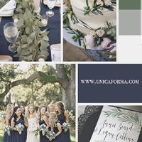 My wedding dress is green. Anyone have ideas for a color palette? - 1