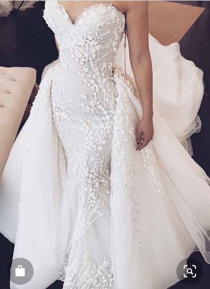 Wedding dress with bridal skirt - 1