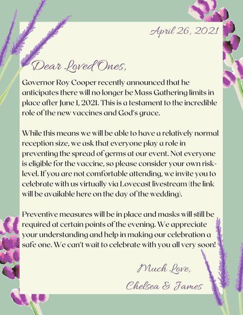 covid Announcement 1