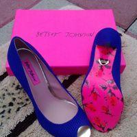 So I found my blue wedding shoes..