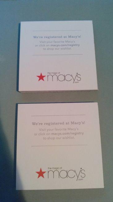 Macy Wedding Registry.Enclosure Cards Weddings Community Conversations Wedding Forums