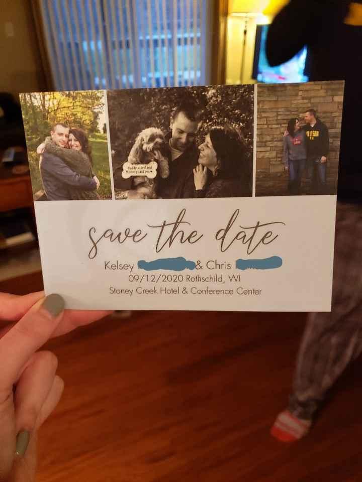 Got my save the dates last night! - 1