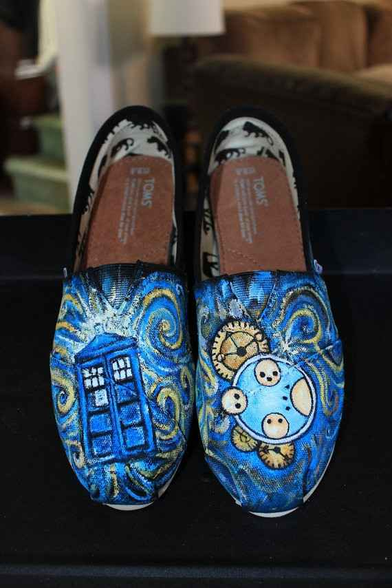 @aspiecat - found some shoes i think you'd like! dr. who/van gogh