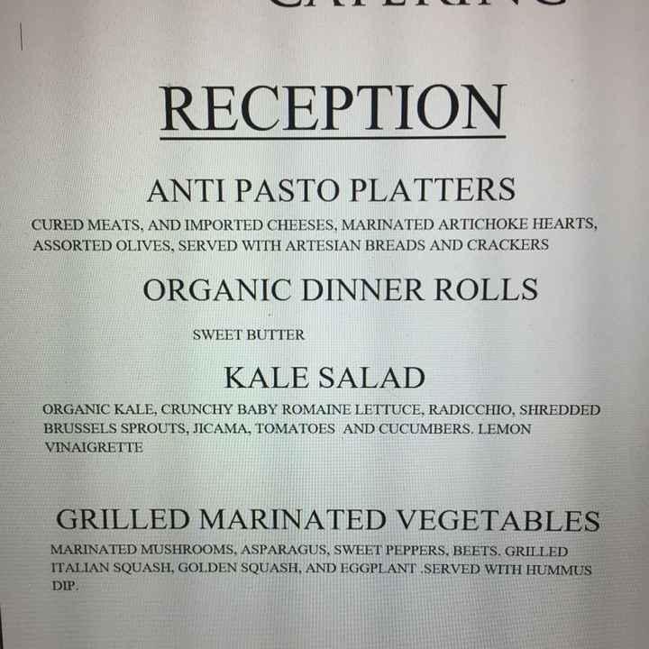 Catering/menu making - 1