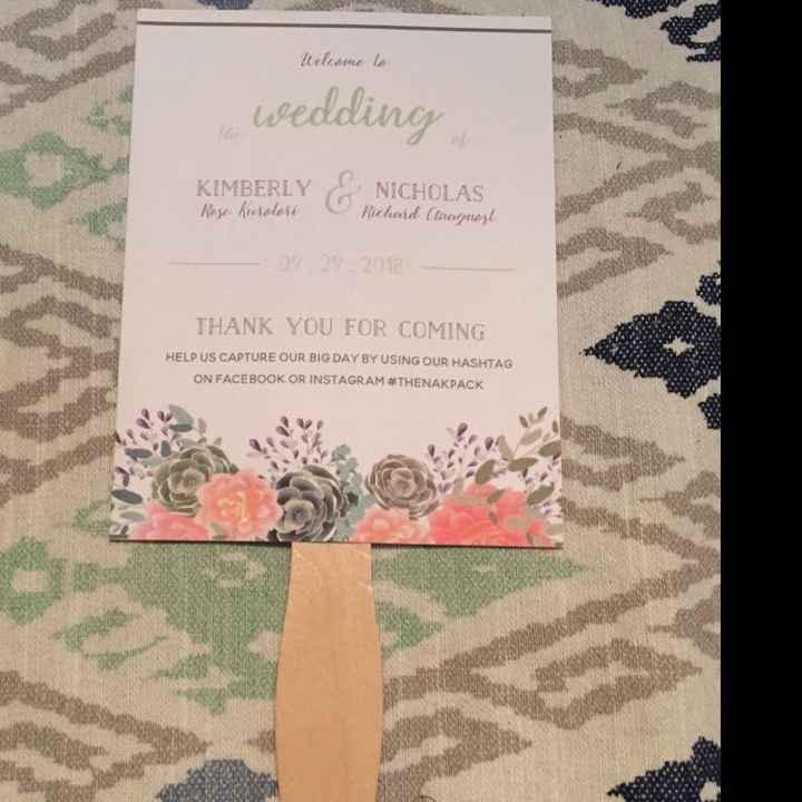 Show me your wedding program! - 1