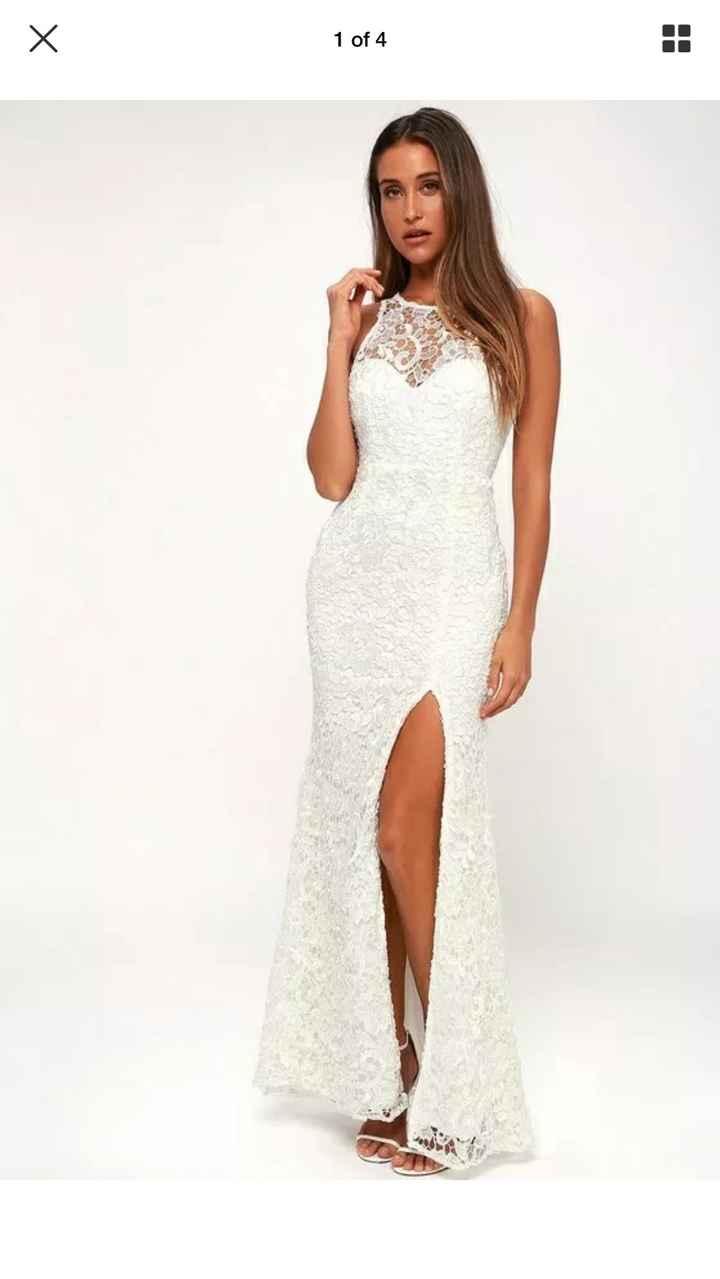 Wedding dress from Lulus - 1