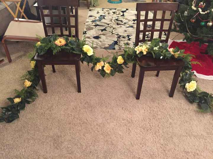 diy bouquets and garland done! - 1