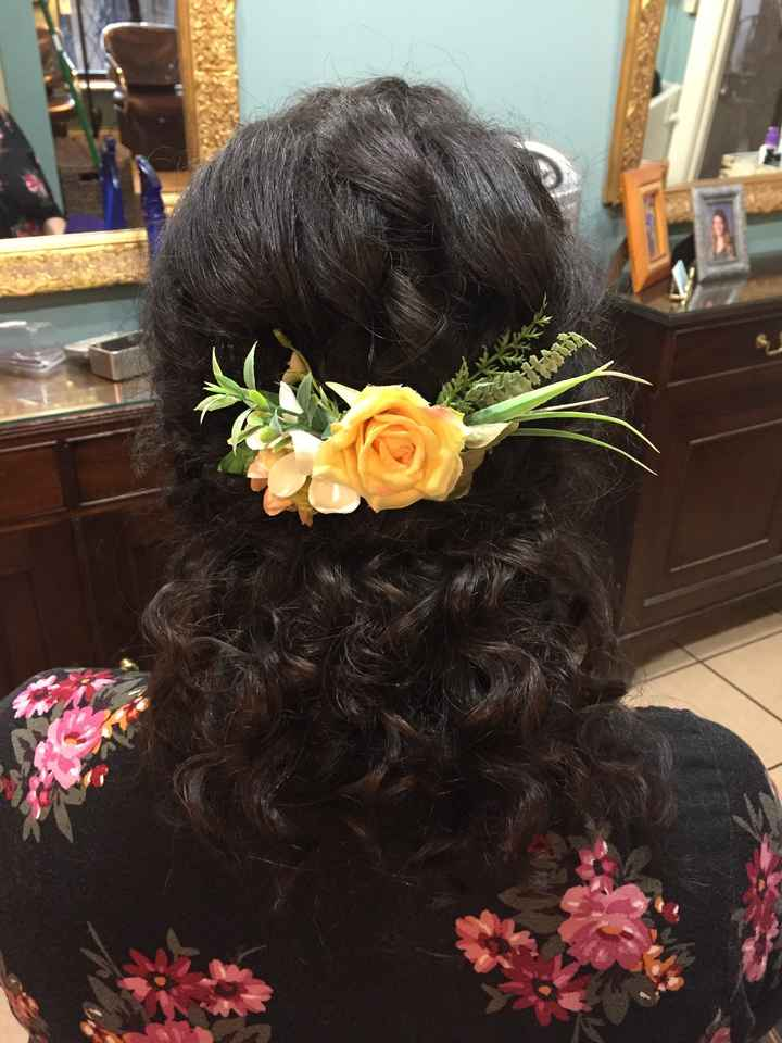 Curly hair on wedding day!! - 1