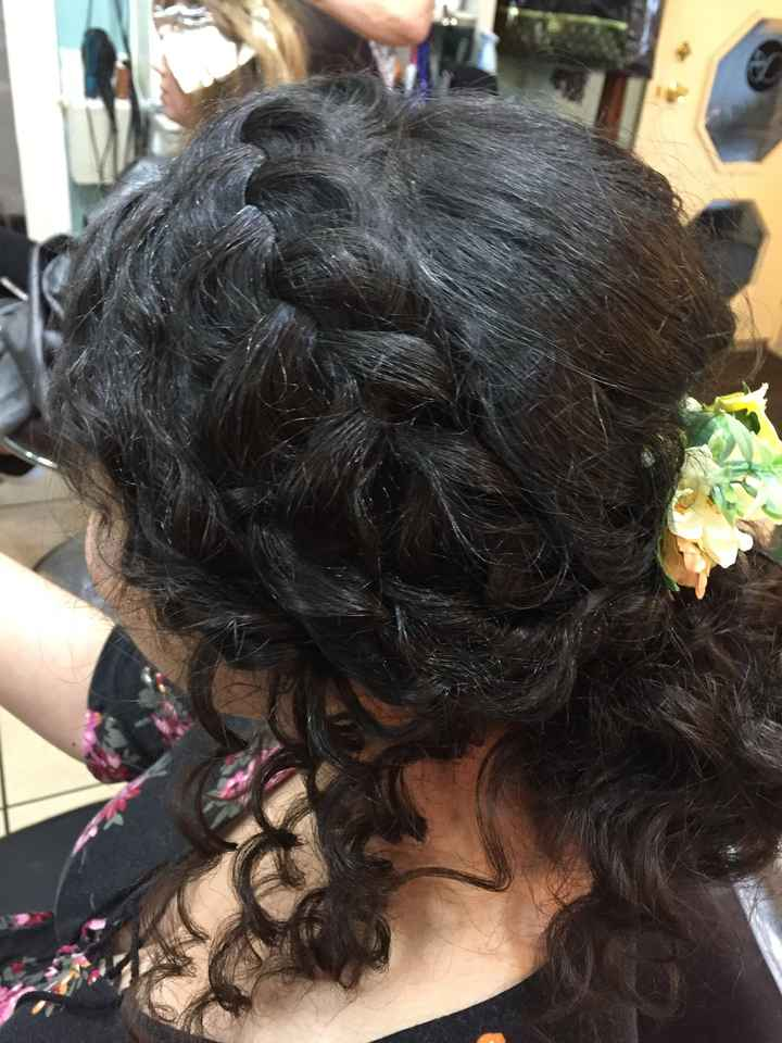 Curly hair on wedding day!! - 2