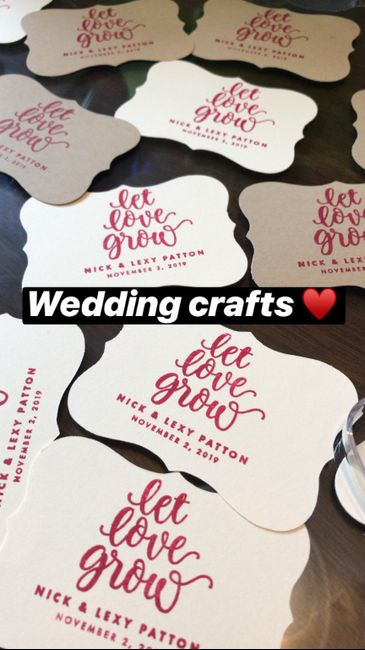 What are you giving as wedding favors? 9