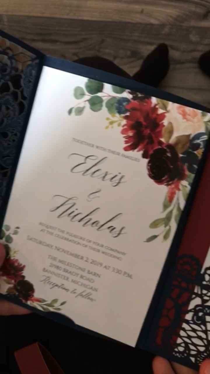 What do your invitations look like? - 4