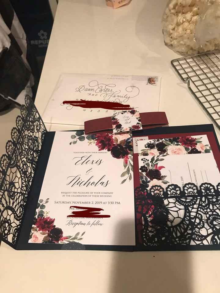 Wedding invitations - 1
