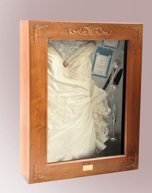 Wedding dress preserved in shadow box?! possibly places to get it ...