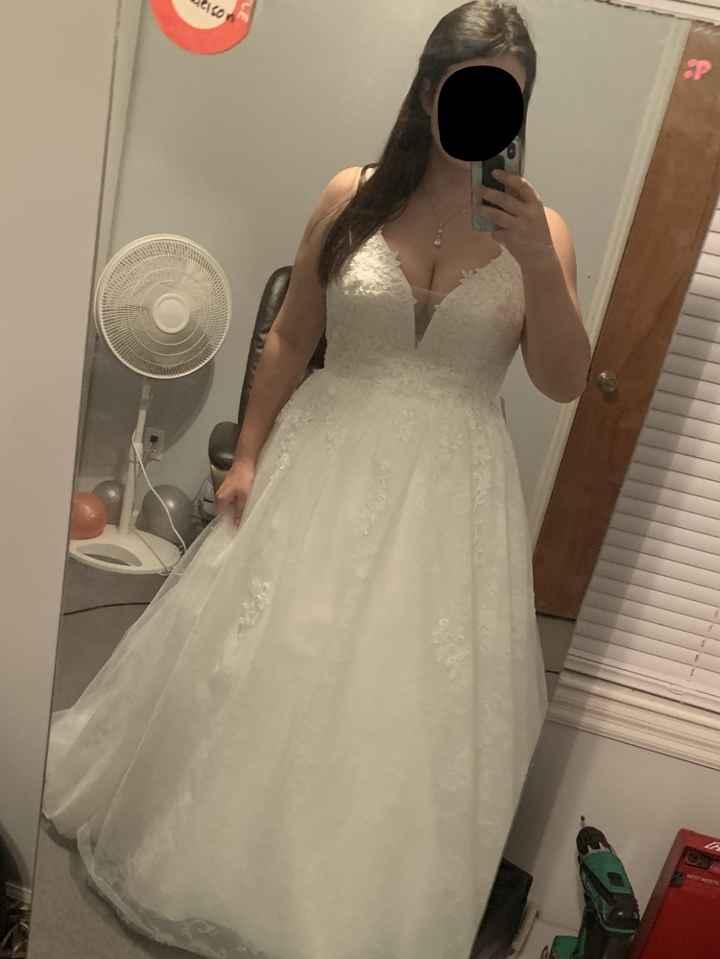 Wedding Dress Cleavage - 1