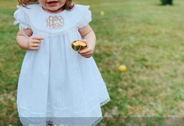 Smocked flower girl dress 1