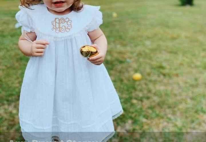 Smocked flower girl dress - 1