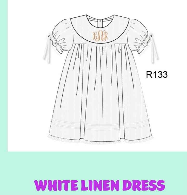 Smocked flower girl dress - 2
