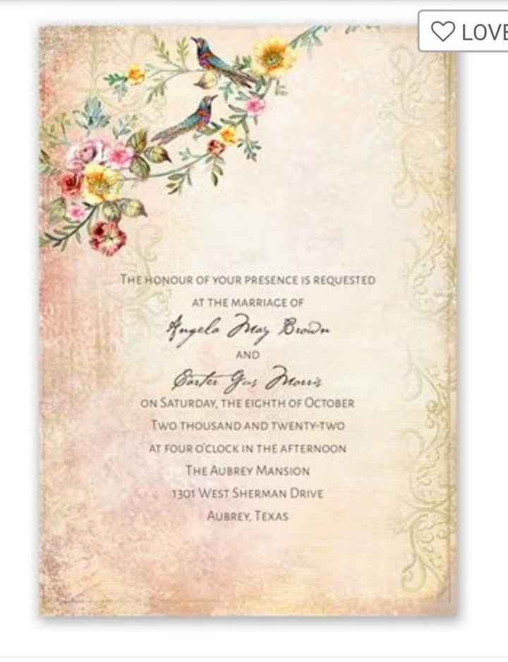 Show me your wedding invitations! - 1