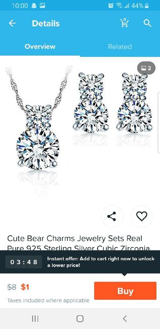 Jewelry for bridesmaids! 1