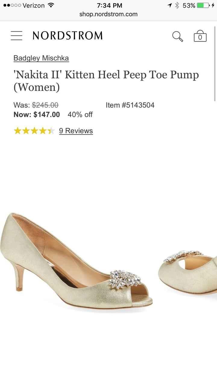 Bridal shoe HELP!